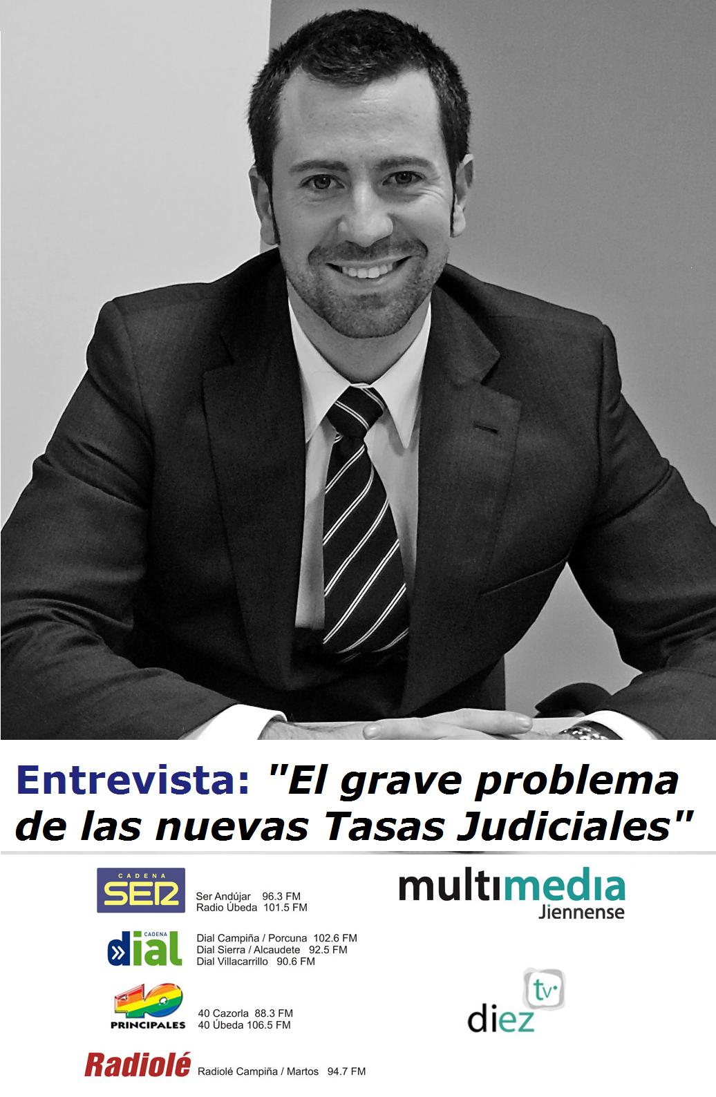 Entrevista tasas judiciales