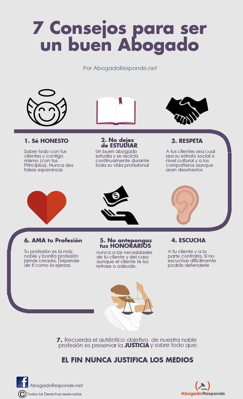 siete consejos para ser buen abogado
